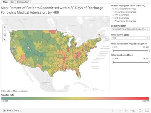 Dartmouth Atlas of Health Care - View by Map chart